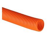 ДКС Труба ПНД гибкая гофр. д.20мм, тяжёлая с протяжкой, 100м, цвет оранжевый