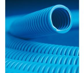 ДКС Труба ППЛ гибкая гофр. д.16мм, тяжёлая с протяжкой, 100м, цвет синий