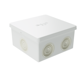 ДКС Коробка ответвит. с кабельными вводами, IP44, 80х80х40мм